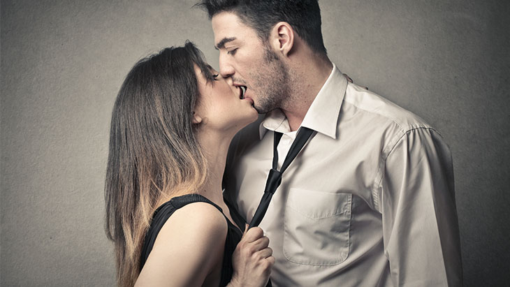Passionate Kissing Couple