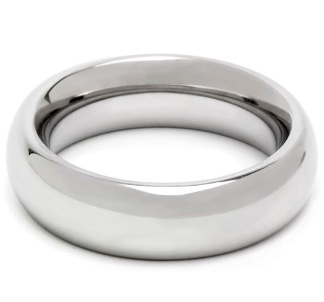 DOMINIX Deluxe Stainless Steel Donut Cock Ring