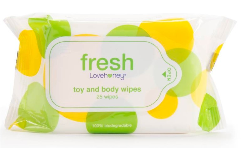 lovehoney toy and body wipes