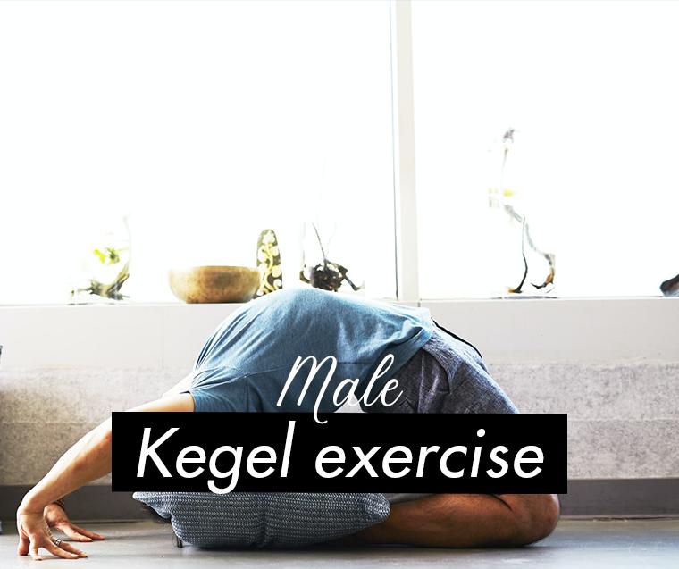 a man doing kegel exercise